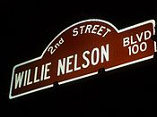 A street sign named after Willie