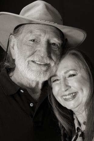 amily photo of Bobbie (left) and Willie Nelson circa 1973.