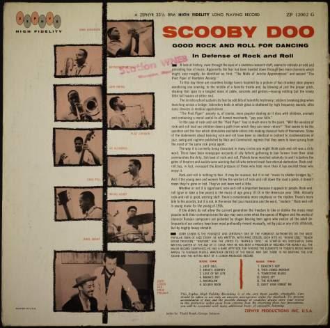ScoobyDoo LP Zepher back